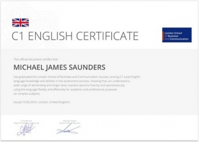 BigMainStreet C1 English Certificate