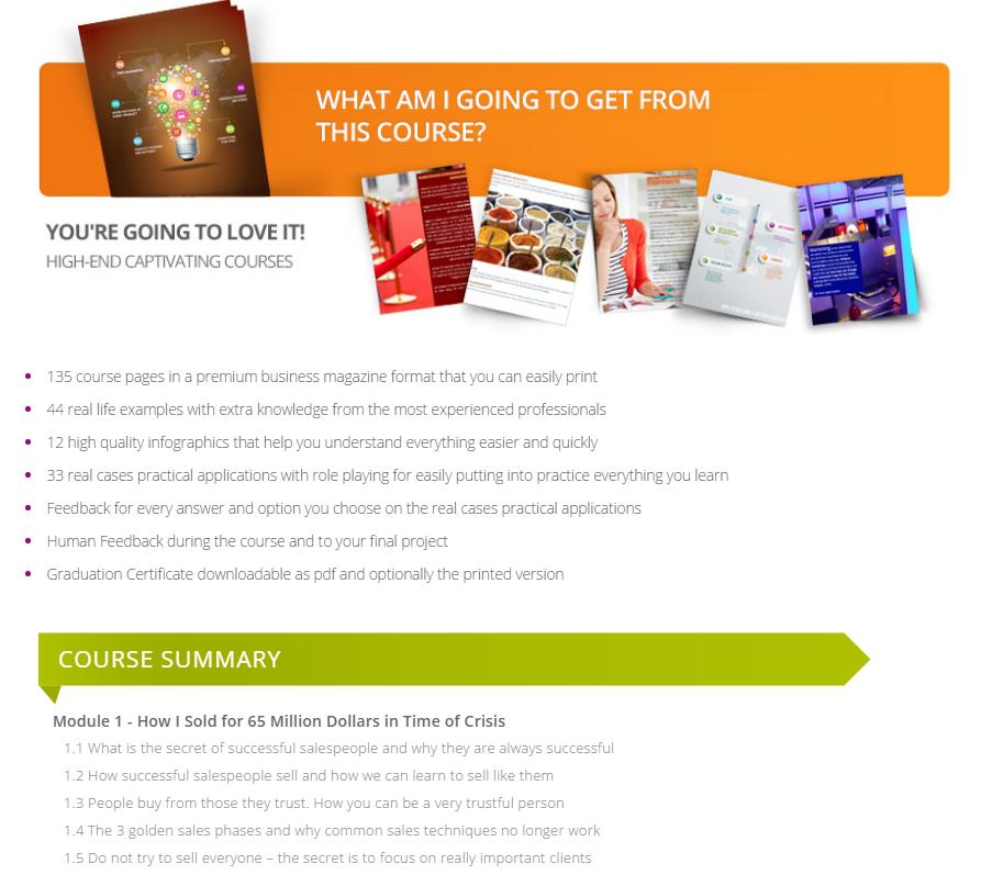 BigMainStreet Course Summary Page